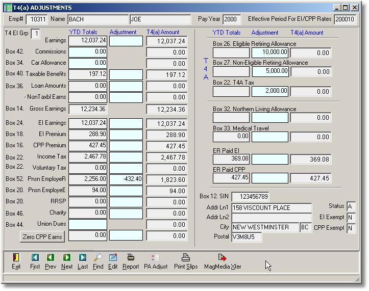 Quickbooks Payrolls: T4 Payroll Forms